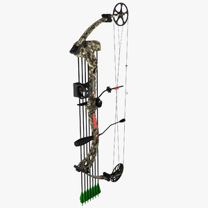 3d model compound bow pse stinger