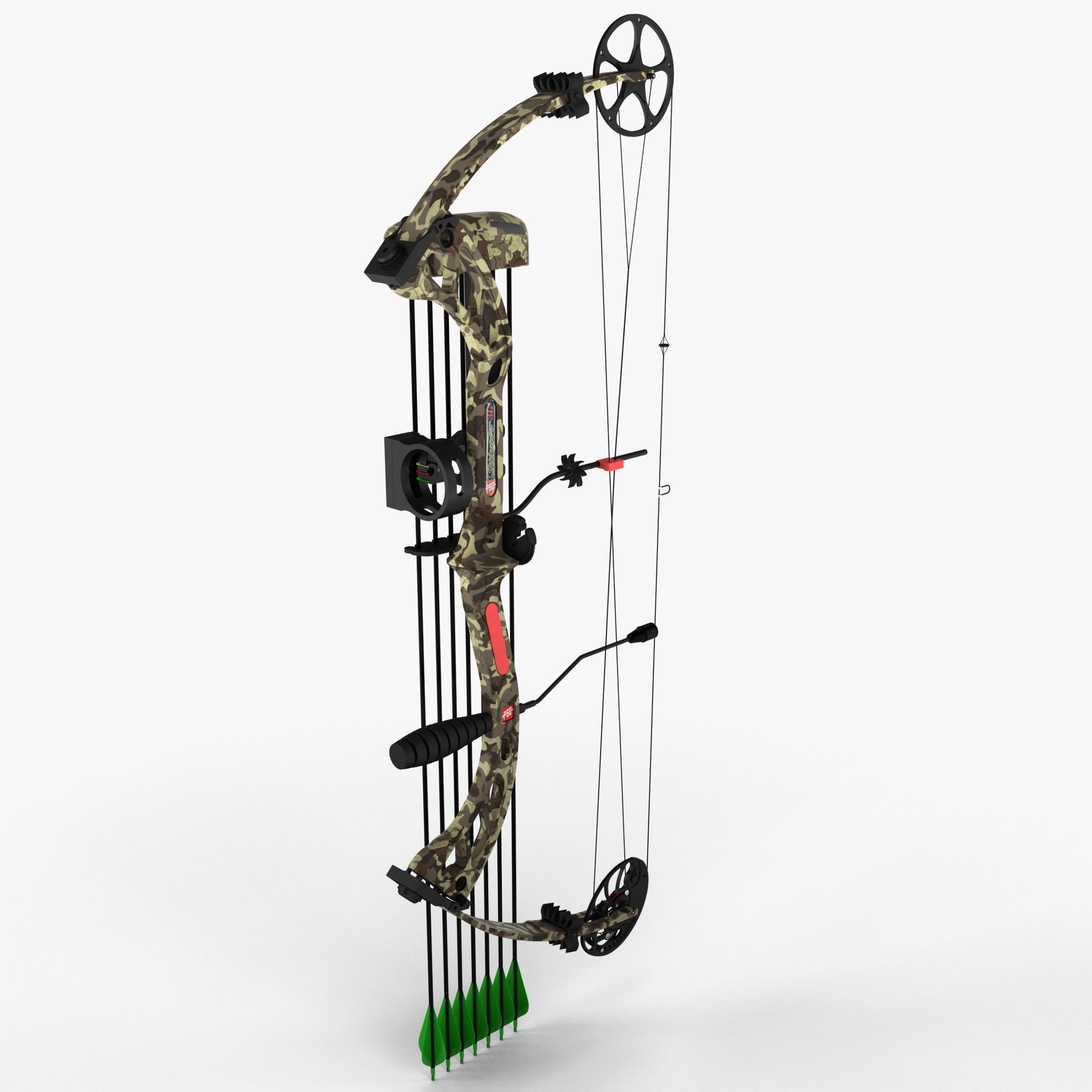 3d model compound bow pse stinger