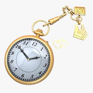 antique watch 3d model