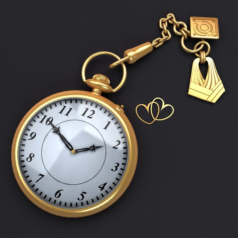 antique watch 3d model