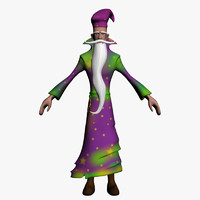 old wizard 3d model
