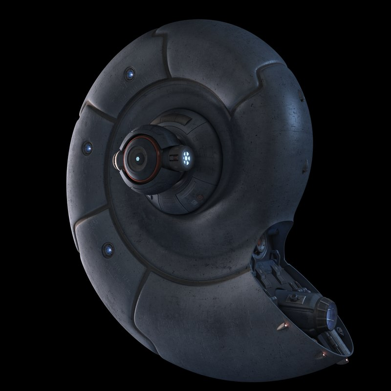 3d alien spaceship nautilus