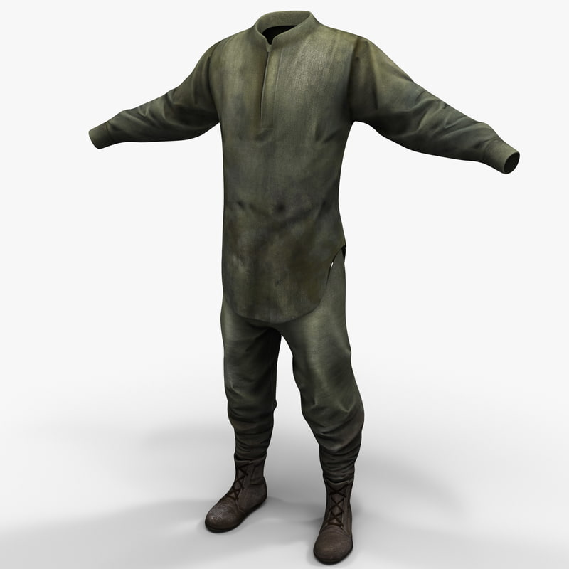 3d guerrilla soldier clothes 2 model