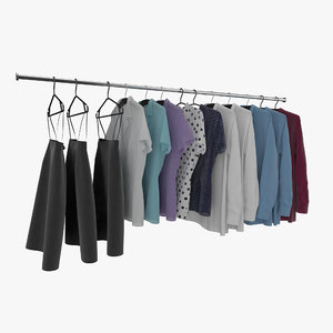 clothes hangers 3d max