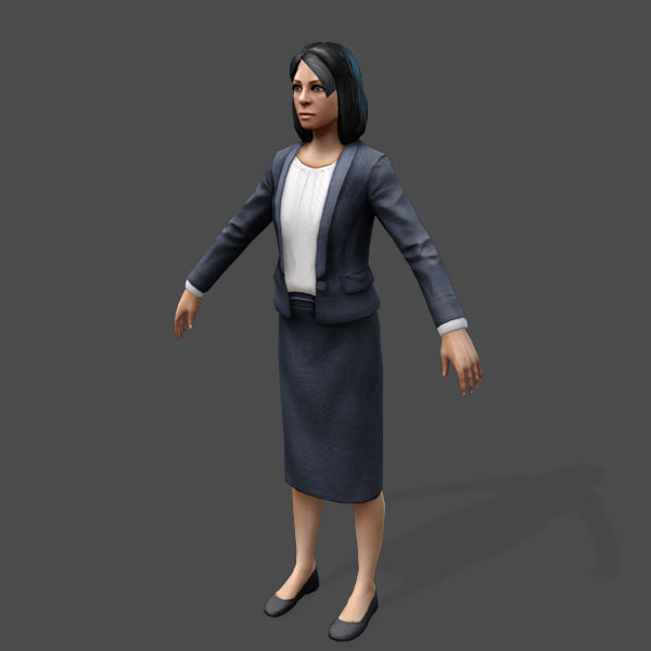 games arabic civilians female 3d obj