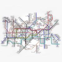 3d london underground model