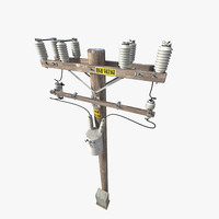 telephone pole 3d max