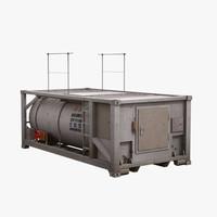 3d industrial tank