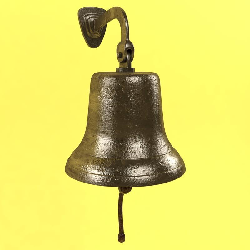 ship bell 3d model
