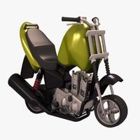 motorcycle 3 3d model