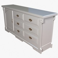 buffet cabinet 3d 3ds