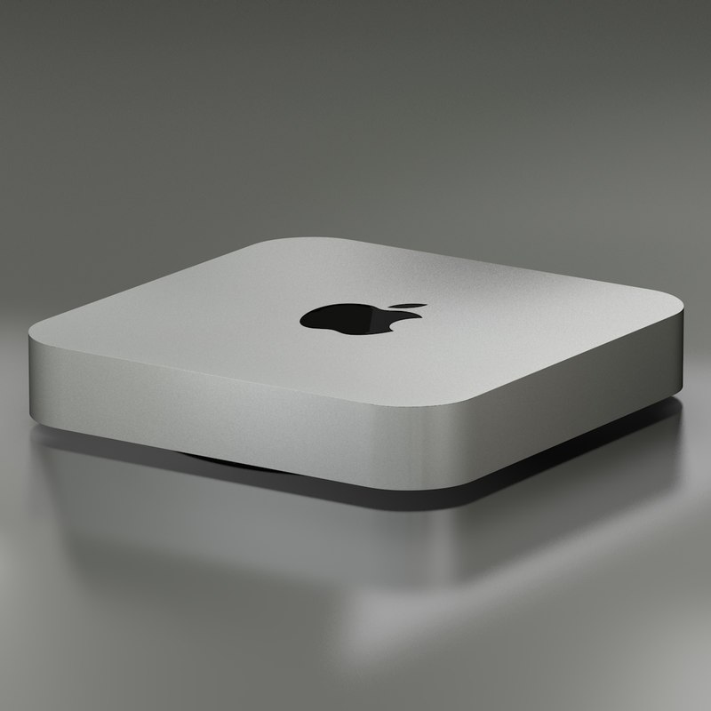 apple mini mac 3d model