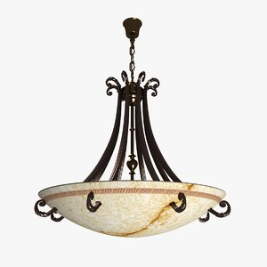 3d possoni ceiling light model
