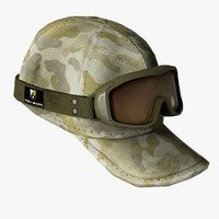 army cap goggles 3d model