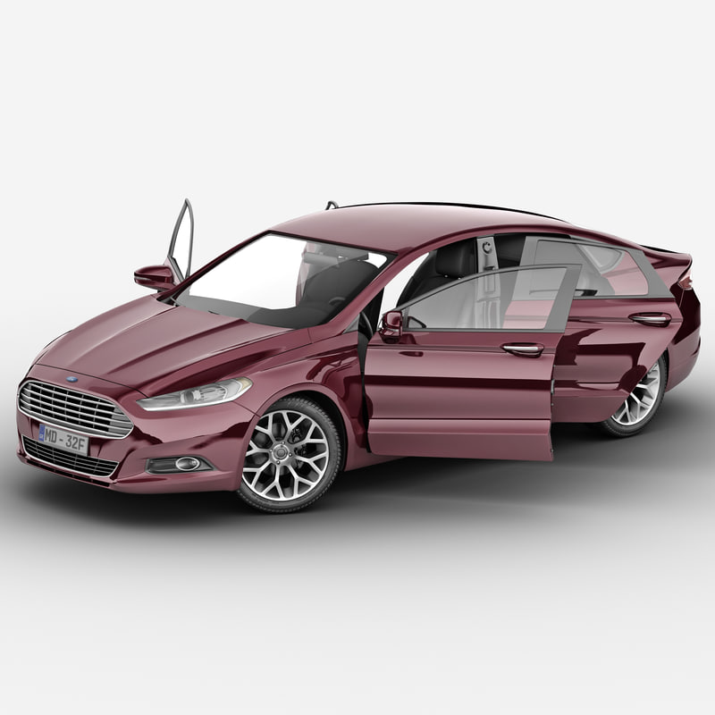 3d model mondeo 2013 rigged 2