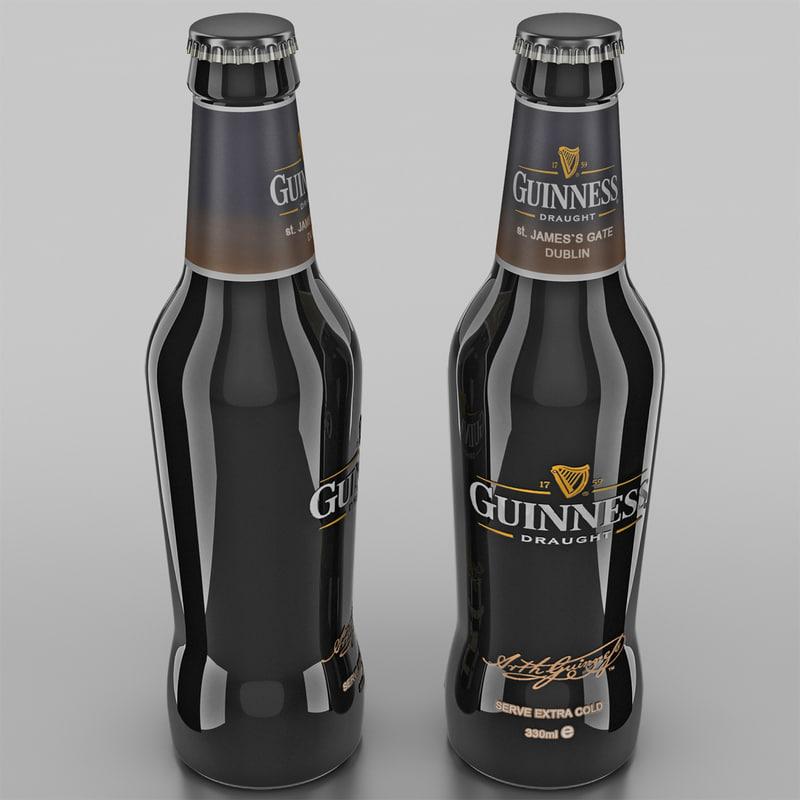 c4d guinness beer bottle