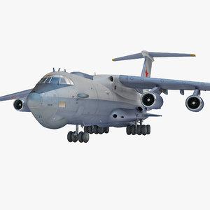 3d ilyushin il-76 plane