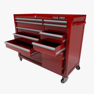 3d model mechanics tool chest