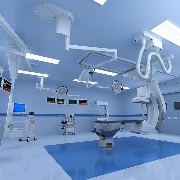operating room 3d max
