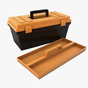 3d plastic tool box model