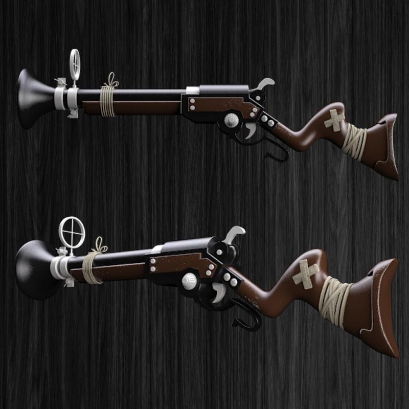 cartoon gun 3d max