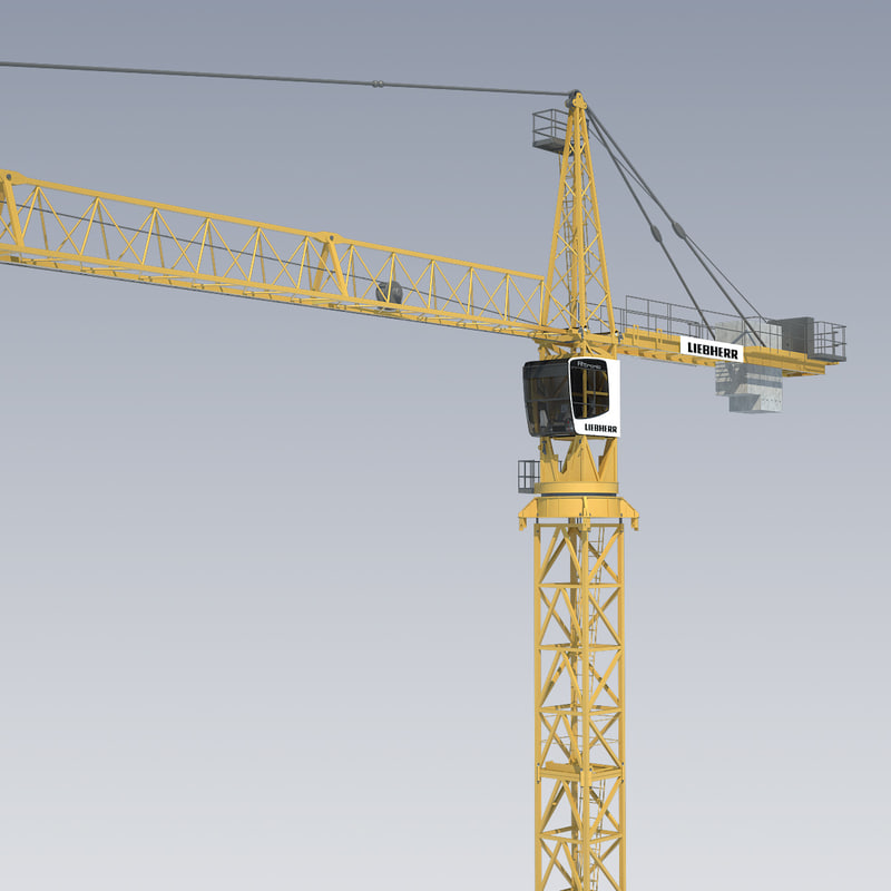 tower crane liebherr 3d 3ds