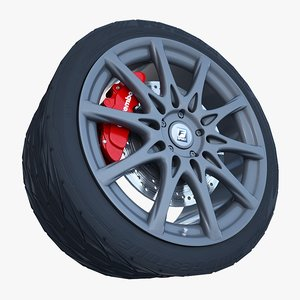 3d lexus f- sport wheel
