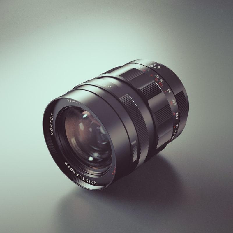 photoreal camera lens voigtlander 3d model