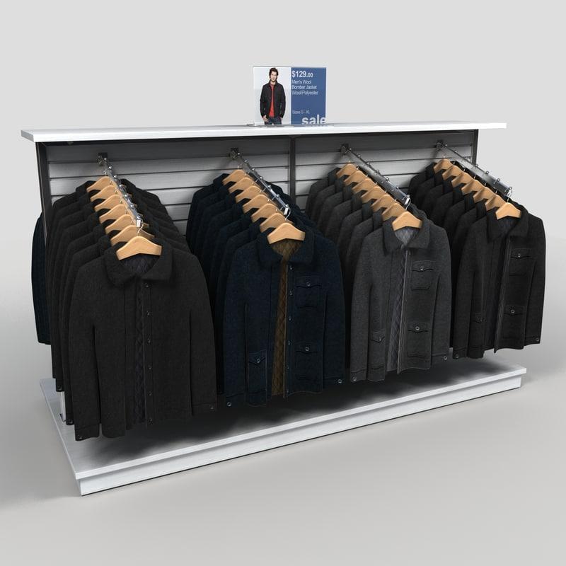 Exhibition Stand Revit : Clothing rack mens coats d model