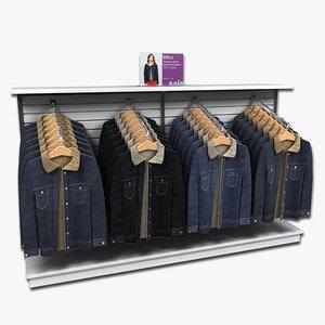 display women coats 3d model