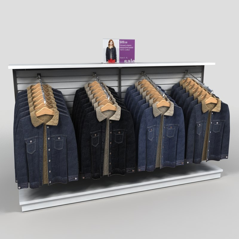 display women coats 3d model