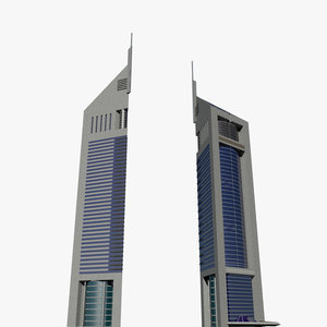 3d twin towers emirates model
