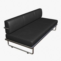 le corbusier sofabed 3d 3ds