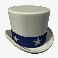 uncle sam hat 3ds