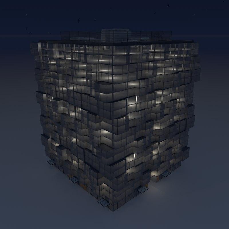 3ds building facade