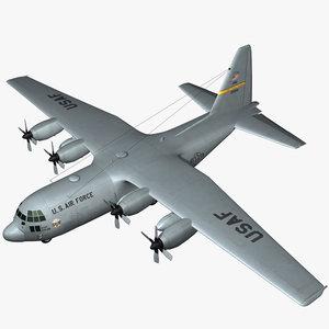 c-130 hercules military transport 3d max