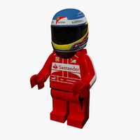 3d lego fernando alonso model
