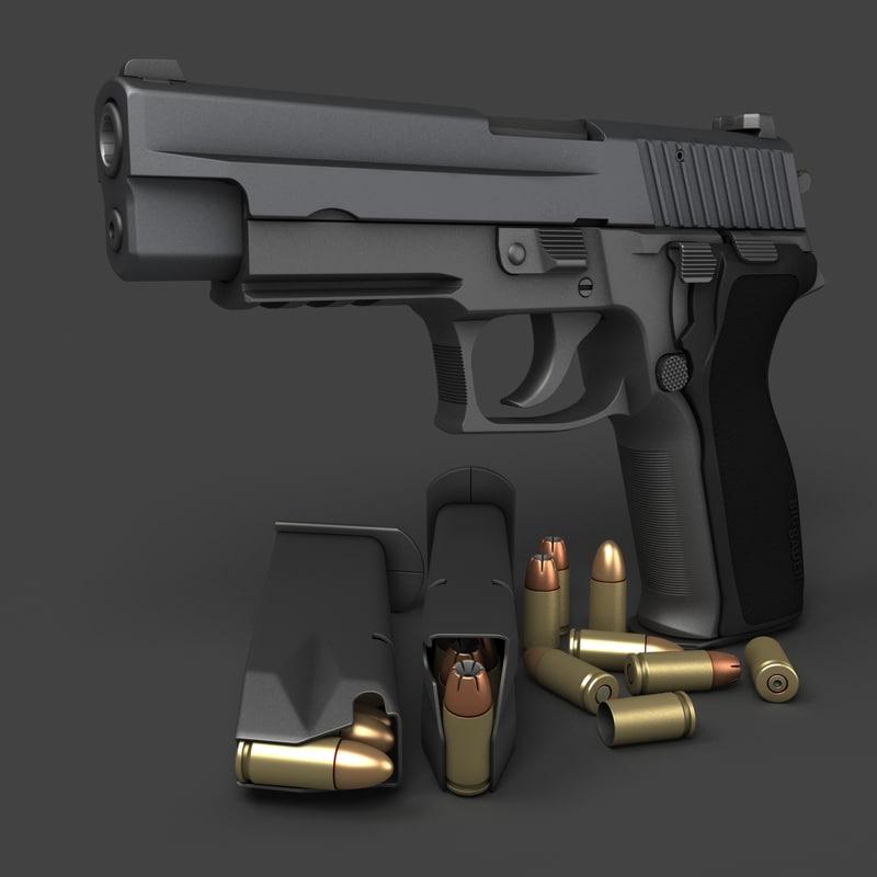 3d sig sauer p226 pistols model