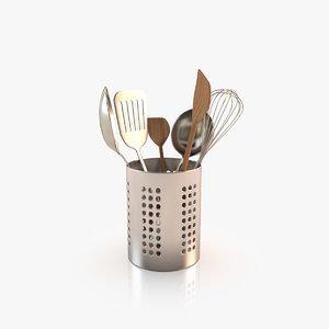 realistic cooking tools 3d model