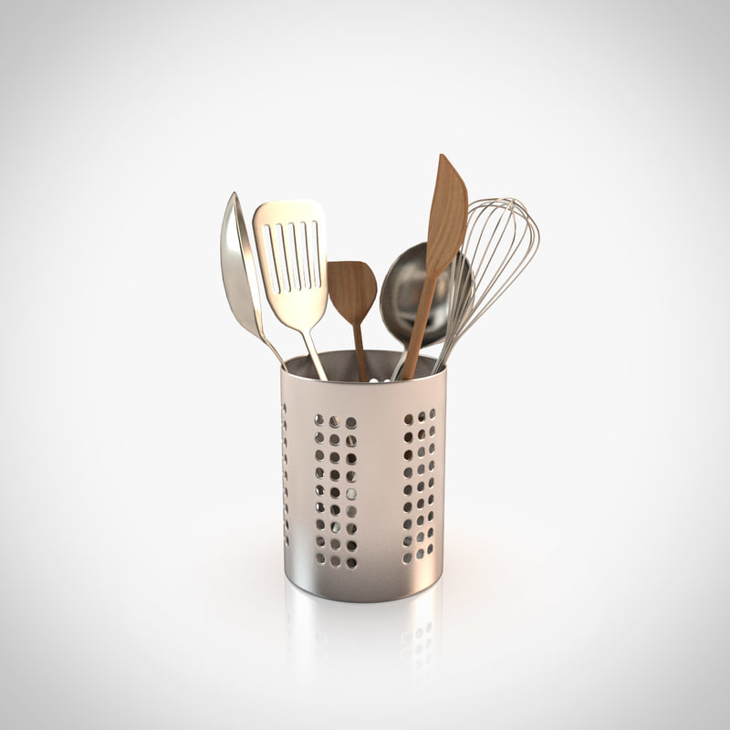 realistic cooking tools 3d model