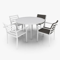 3d light patio furniture set model