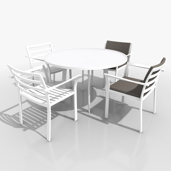 3d Light Patio Furniture Set Model