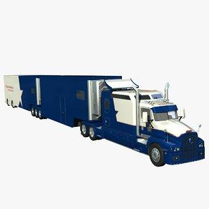 truck trailer t600 3d lwo