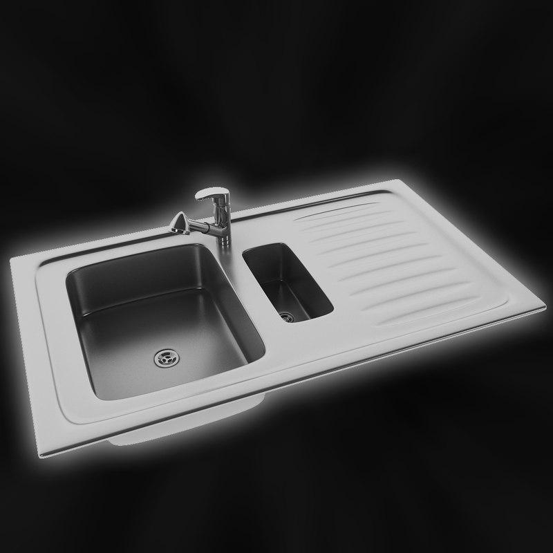3d model sink modelling clean