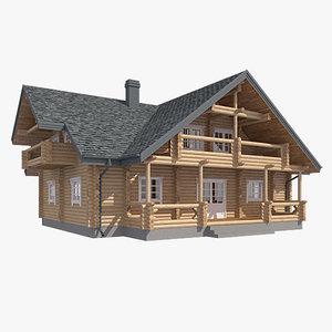 log house 3d x