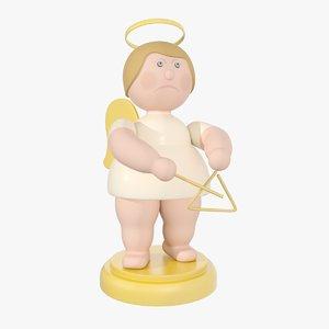3d model of christmas angel