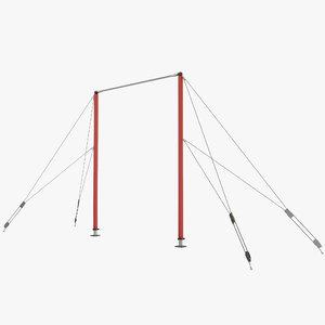 3d model gymnastics bar