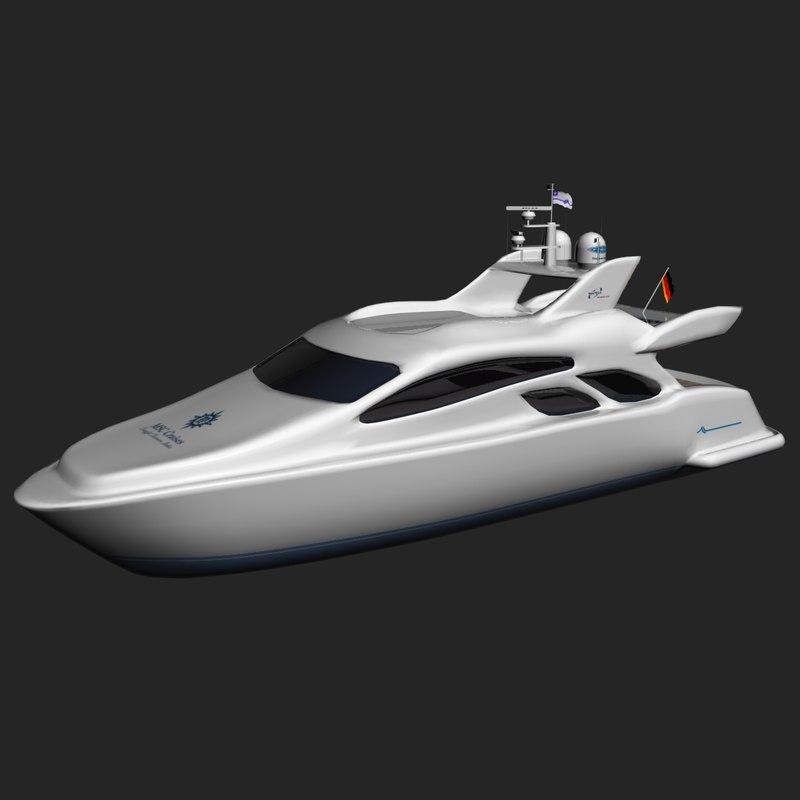 3d max yacht cruise