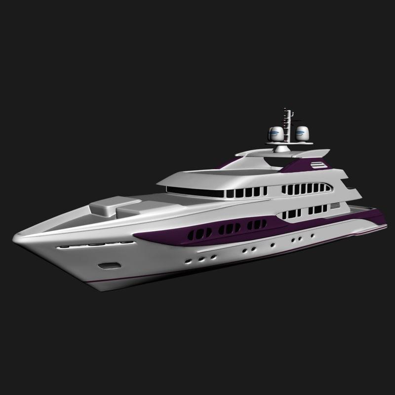 yacht marine 3d max