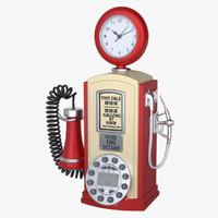 max photoreal gas station phone